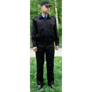 """Костюм """"Охранник"""" черный (тк. СТ-2, пл.240 гр.)"""