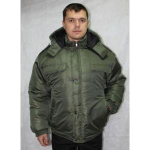 Куртка охранника зимняя на резинке хаки (тк. Оксфорд хаки)