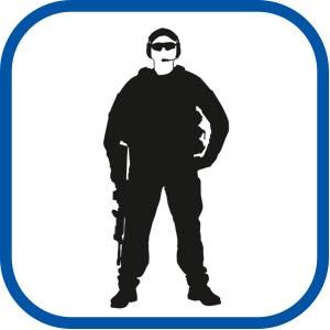 Рубашка форменная охранника олива (длинный рукав)