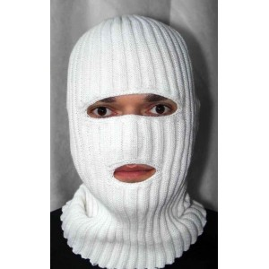 Шапка маска белая