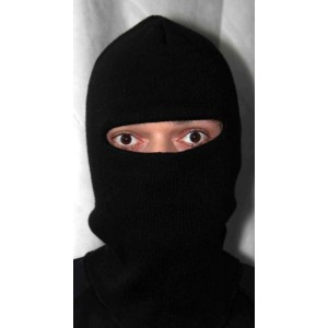 Шапка маска черная двойная