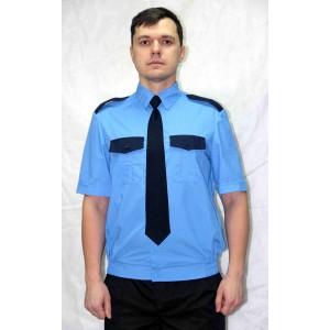 Рубашка форменная охранника на резинке (короткий рукав)