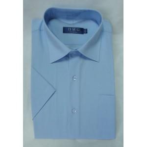 Сорочка классическая короткий рукав голубая
