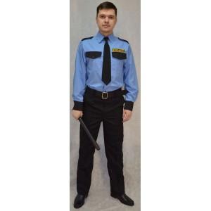 Рубашка форменная охранника (длинный рукав)