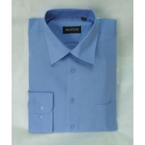 Сорочка классическая длинный рукав голубая