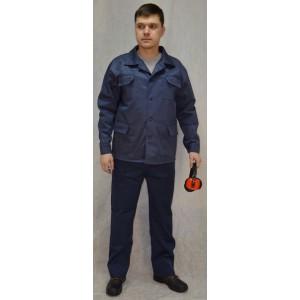Костюм рабочий темно-синий с п\к